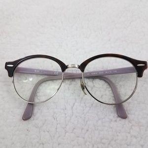 Rayban Eyeglasses Havana Tortoise Clubround Purple